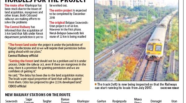 1st phase of Seawoods-Uran rail route ready, trains to run by July